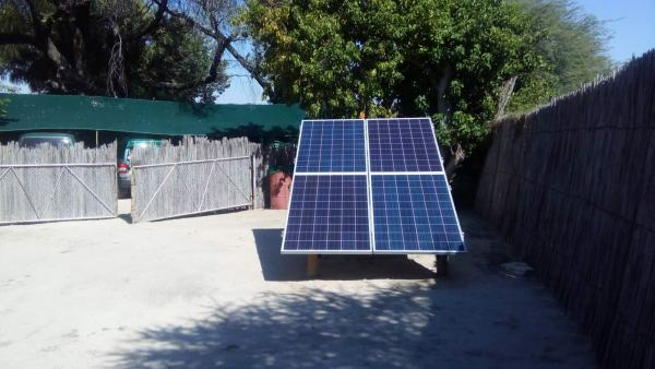 Monitoring and maintaining the solar system was Ian's main responsibility in Botswana, Africa.