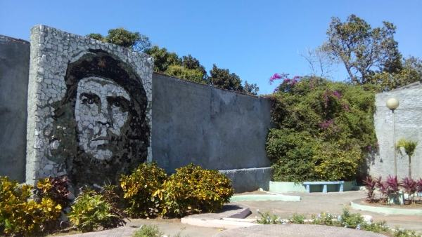 Che Guevara is a national hero, and his image can be seen everywhere.