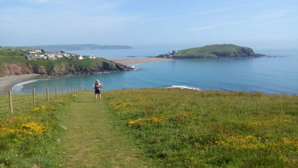 Vanessa enjoys the view across to Burgh Island, Devon