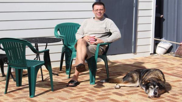 Tea in the sun on the patio