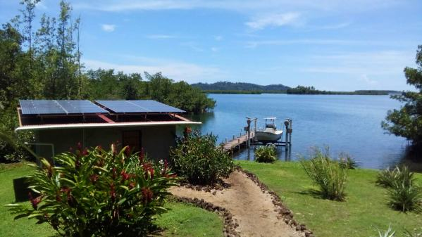 The beautiful view from the veranda of our Panama house sit