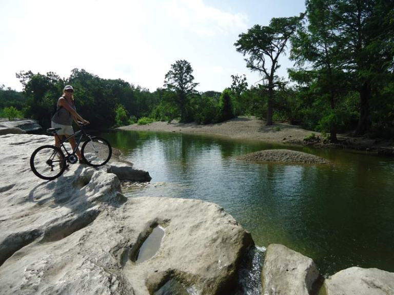 Vanessa enjoying McKinney Falls