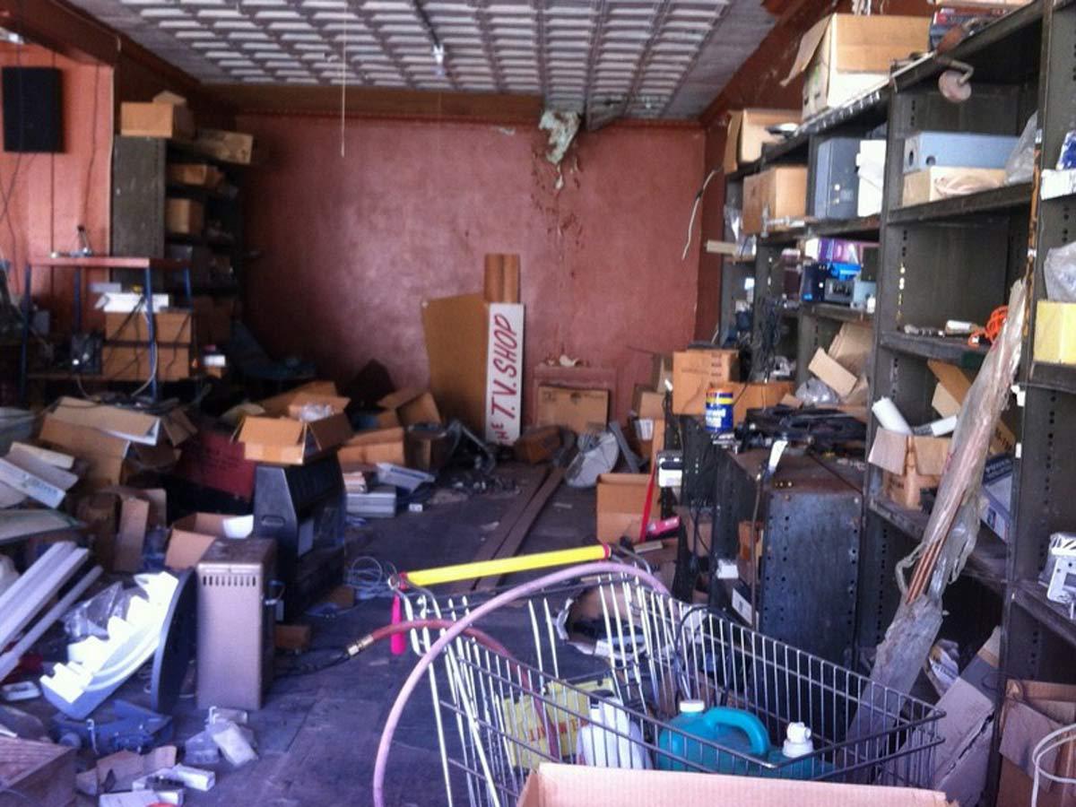 Typical shop interior - junk, junk and more junk!