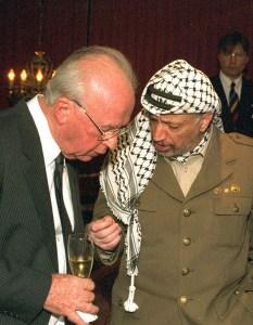 Yasser Arafat and Yitzhak Rabin Talk Peace