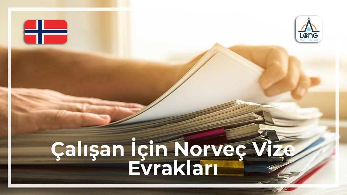 Norveç Vize Evrakları Çalışan İçin