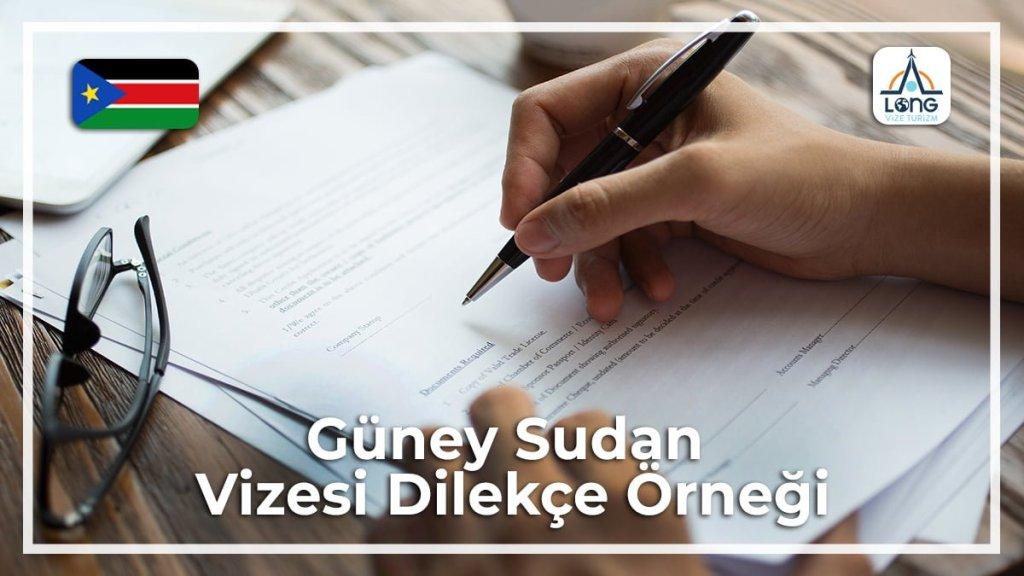 Dilekçe Örneği Güney Sudan Vizesi