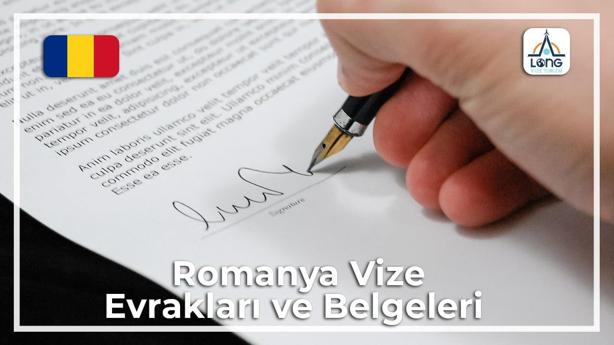 Vize Evraklari Ve Belgeleri Romanya