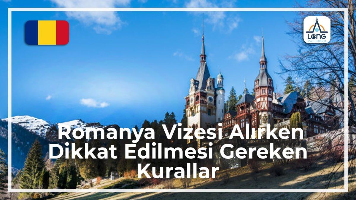 Vizesi Alırken Dikkat Edilmesi Gereken Kurallar Romanya