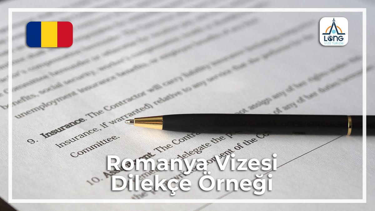 Vizesi Dilekçe Örneği Romanya