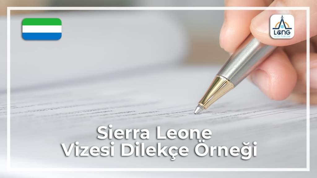 Vizesi Dilekçe Örneği Sierra Leone