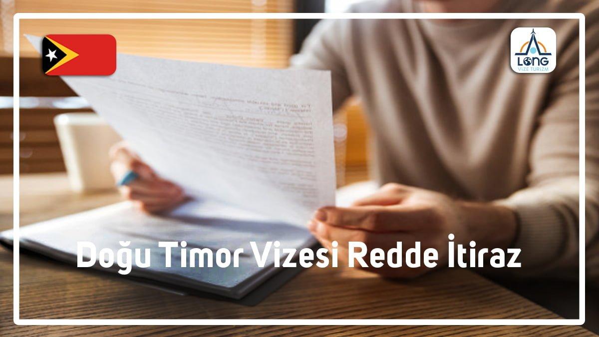 Vizesi Redde İtiraz Doğu Timor