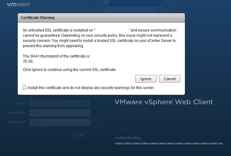 Vsphere Web Client Ssl Cert Not Updated After Vcenter Ssl Cert