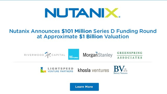 Nutanix Enterprise IT Disruption as a Service, Raises $100M in Funding including from SAP Ventures