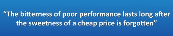Bitterness of Poor Performance Quote
