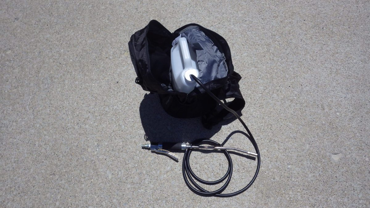 1 Gallon Plastic Jug with Backpack