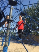 son at playground
