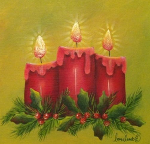 Christmas Candles.Christmas Candles By Lonna Lamb