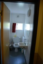 This is what the bathroom looks like. It's shared with the other occupants of the flat.