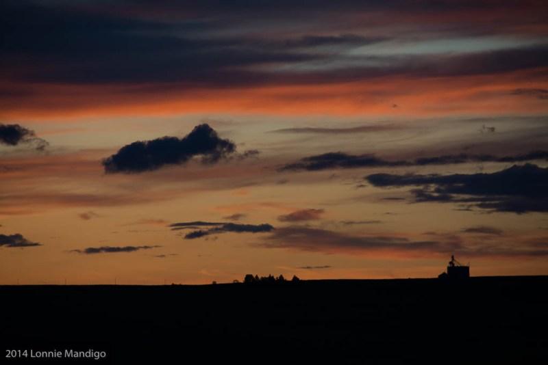 Sunset near Athena