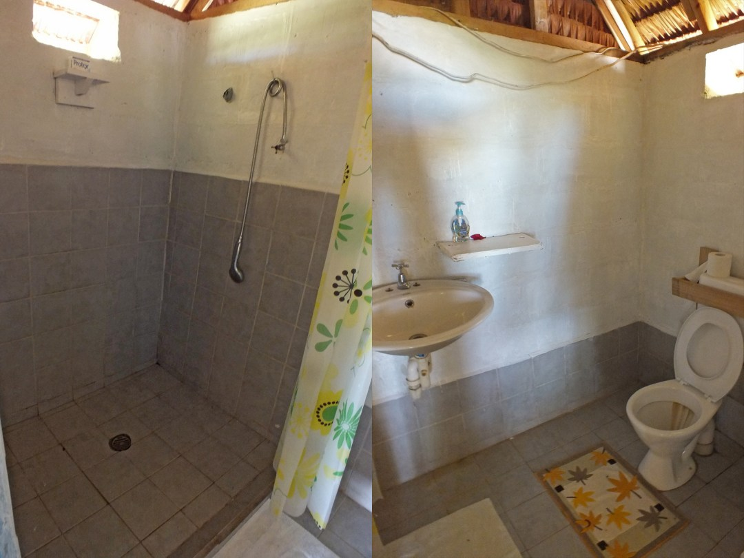 Hibiscus Bungalow 1 - Shower and Bathroom