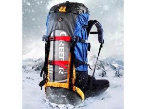 Mochila alpinista profesional 60 lts repelente al agua