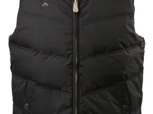 Chaleco doble vista pluma de ganso Negro/Kaki Repelente