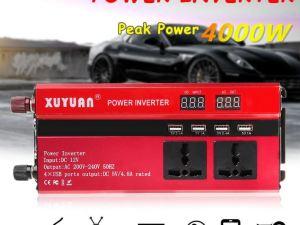 convertidor de 12 volts a 125 volts para camioneta o panel solar.
