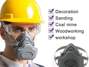 Mascara cubrebocas media cara + 20 Filtros PM2.5 alta eficiencia