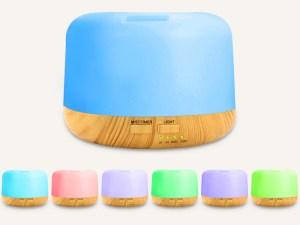 Difusor Aromaterapia Minimalista Relajacion nebulizador sanitizar 500ml