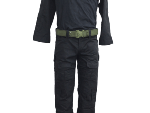 Uniforme tactico militar de pantalon y playera color negro gotcha airsoft paintball
