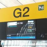 キャセイパシフィック航空B777-300エコノミーCX750バンコク~香港搭乗☆2015年12月タイ・ラオス旅行記(46)