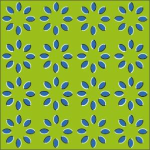 Optische Täuschung mit Bewegungillusion von Akiyoshi Kitaoka