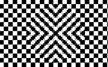 optische Täuschung in Schwarz-weiß