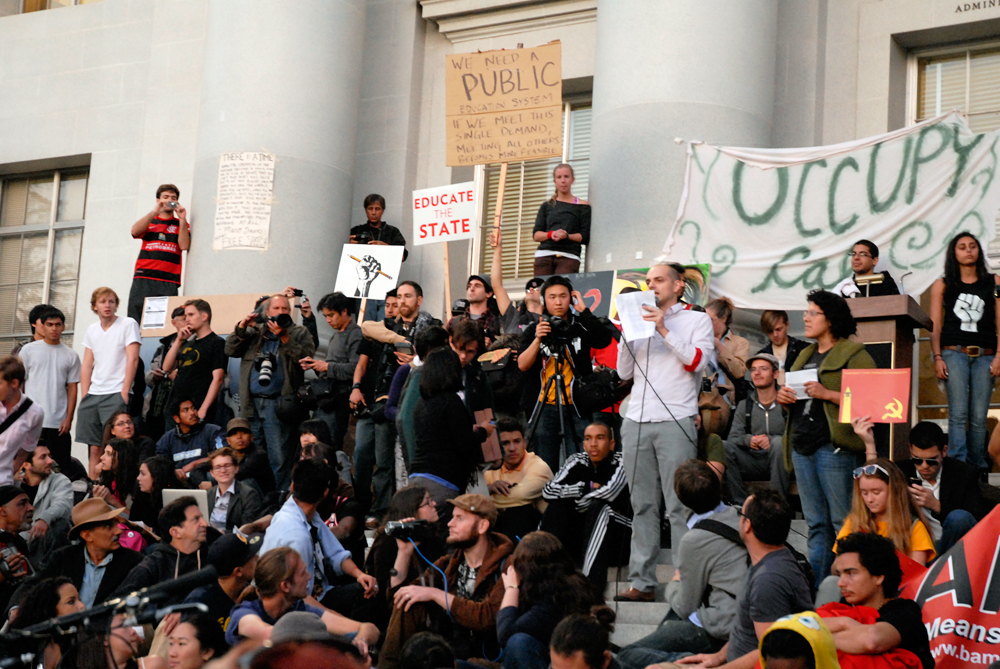 Occupy Cal Sproul Hall - Jack Kornfield and Wes Nisker