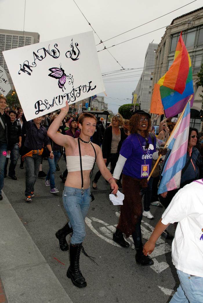 Trans is Beautiful - Trans Marcher