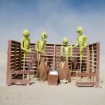 Alien Nativity by LoveExpansion. Photo: Wendy Goodfriend