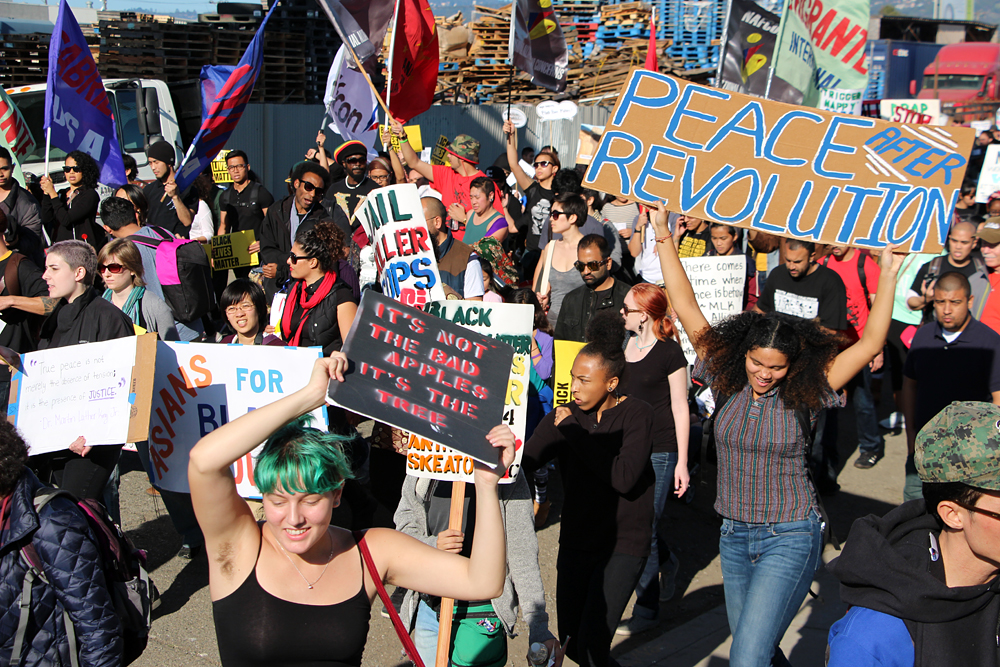 The masses marching in Oakland
