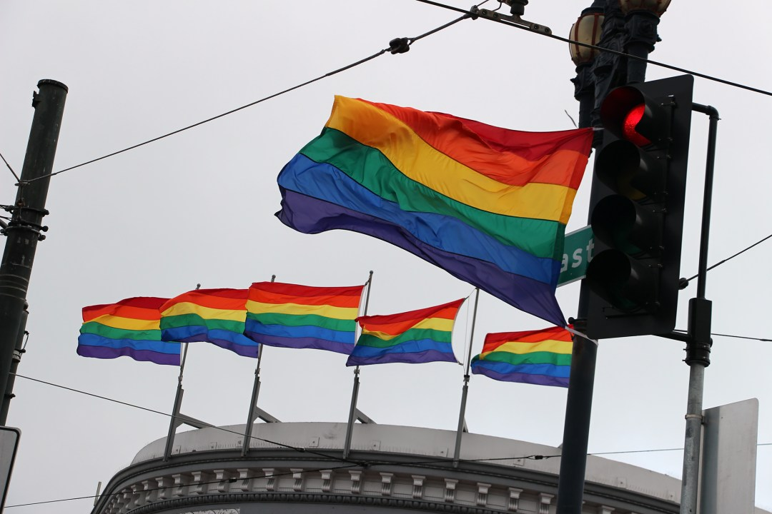Rainbow Flags in the Castro