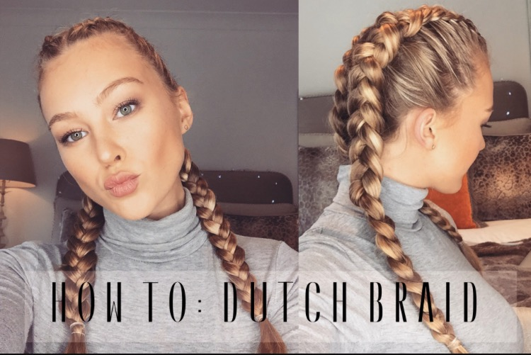 How To: Dutch Braid Your Own Hair | Hollie Hobin