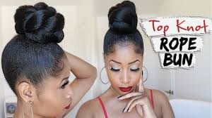 THE TOP KNOT ROPE BUN ➟ hair how-to by TheChicNatural