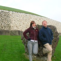 My flatmates, Sarah and Ciaran visiting Newgrange