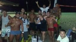Footvolley players on Copacabana