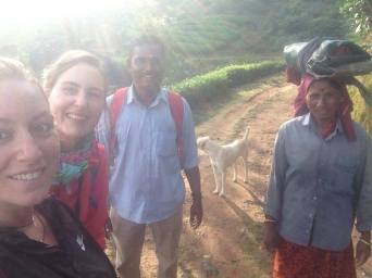 Lisa, a german and our guide in the Munnar tea plantations