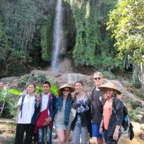 Super group of trekkers in Hsipaw
