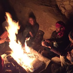Evening with bedouins of Petra