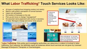 slideshow potential labor trafficking signs