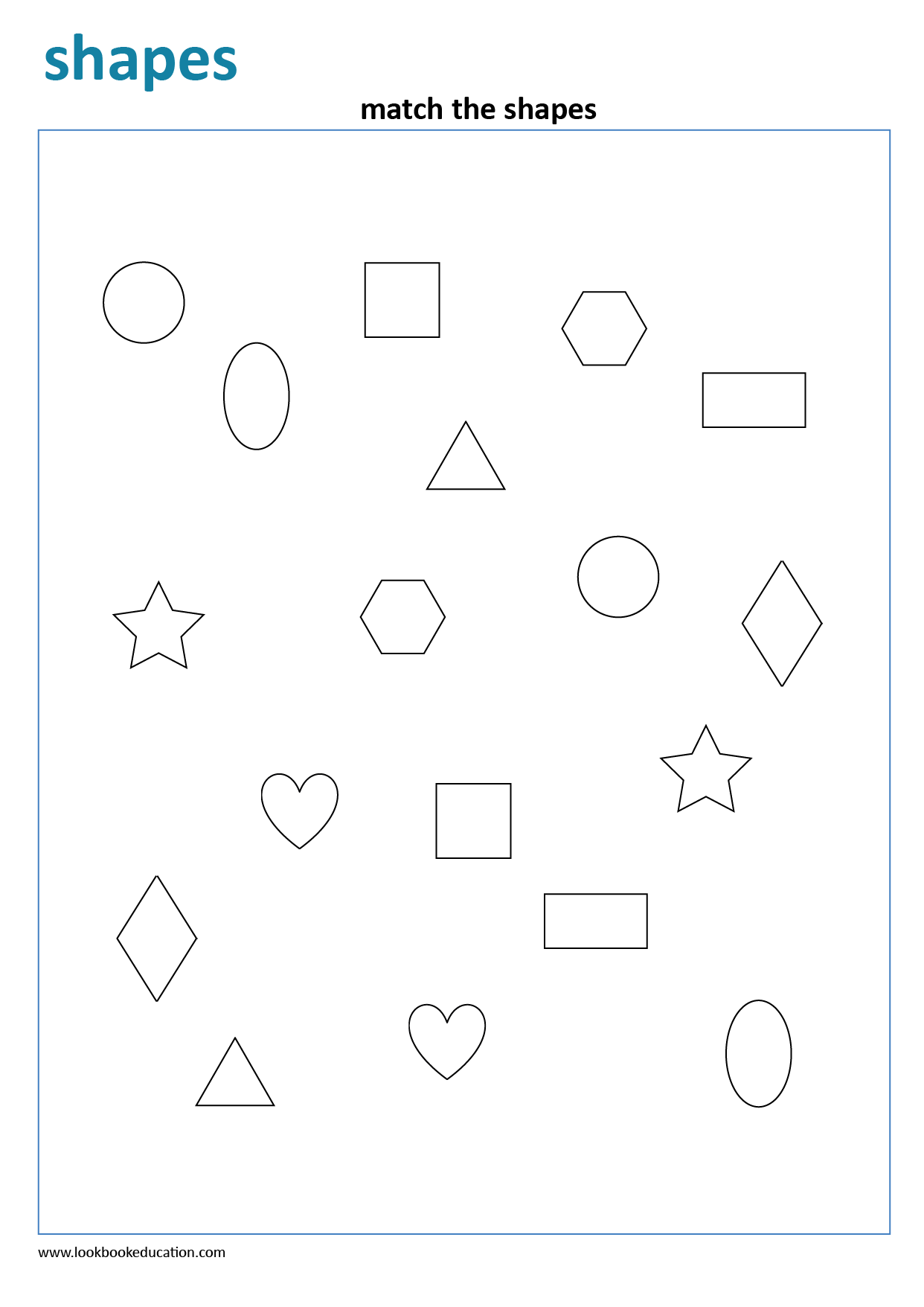 Worksheet Matching Shapes
