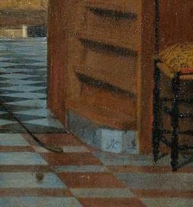 cerámica de Delft en la pintura