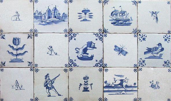 cerámica de Delft en pintura barroca