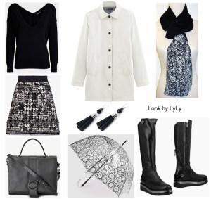 Looks urbanos en negro y blanco